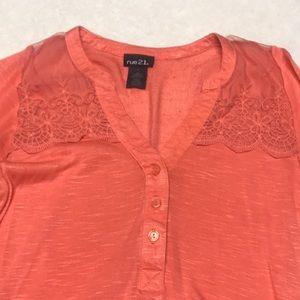 Rue21 Tops - Ladies salmon colored shirt